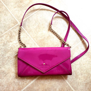 Kate Spade Crossbody Patent Leather Chain Envelope